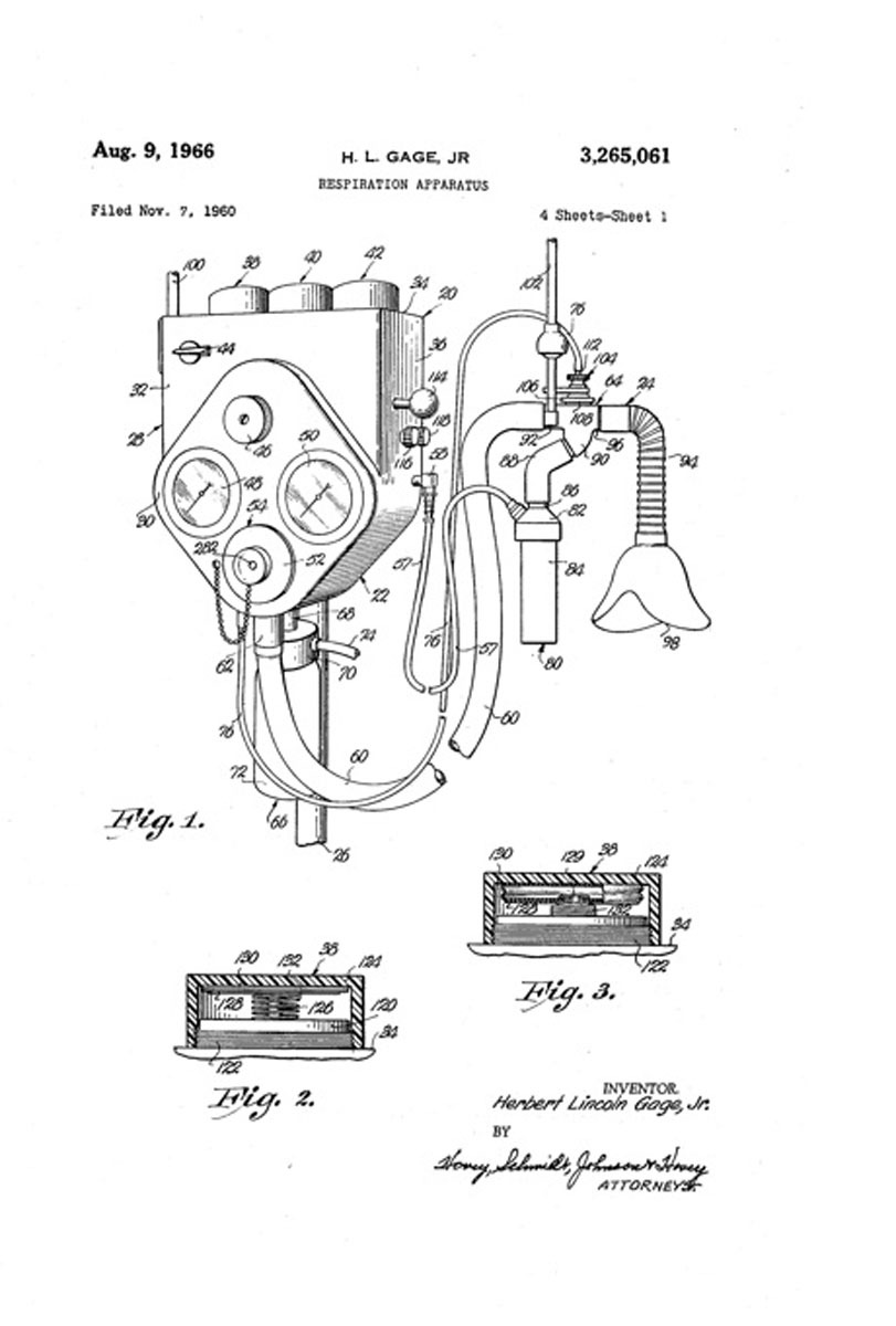 Intermittent Positive Pressure Breathing 1960 Lincoln Wiring Diagram Respiration Apparatus