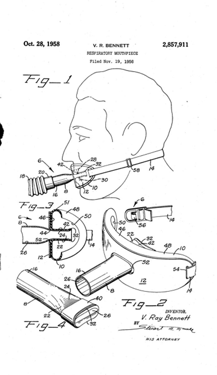 """1956 Bennett's """"Respiratory Mouthpiece"""""""