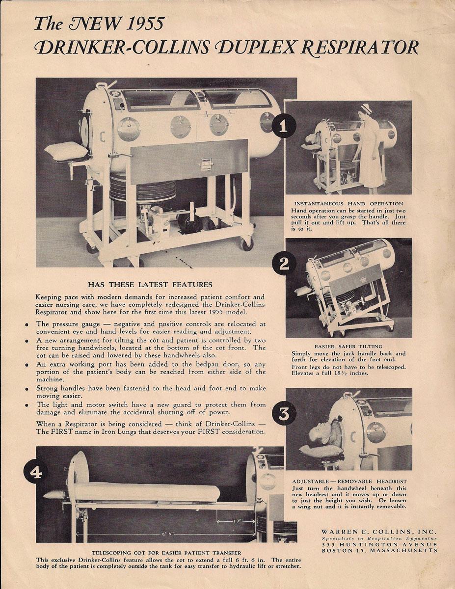 1955 Drinker-Collins Duplex Respirator