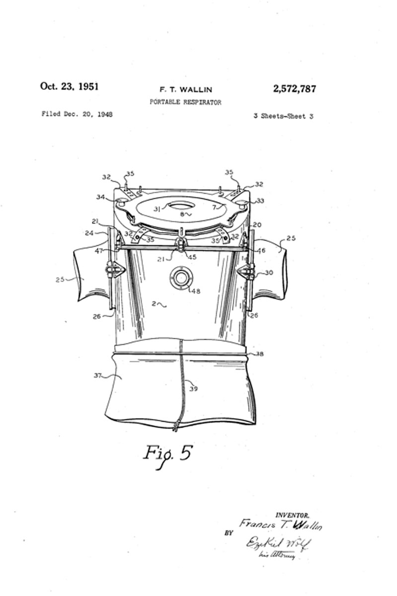 1948 F.T. Wallin Patent Filed