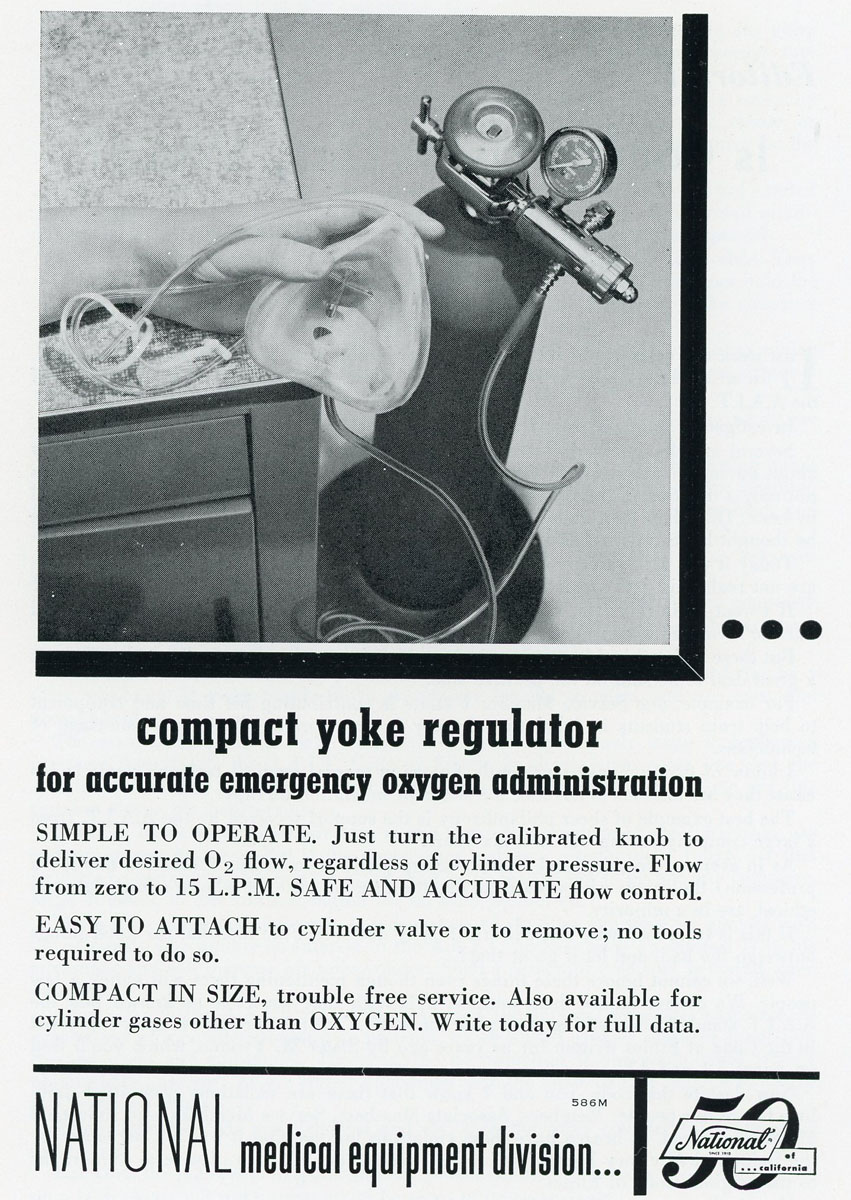 1950s National Yoke Regulator
