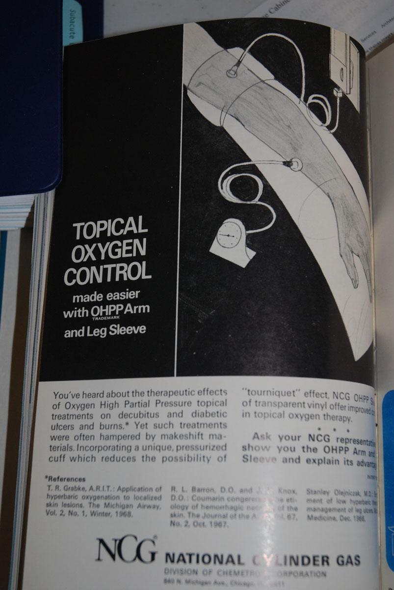 1960s Topical Oxygen Therapy Sleeve for Wound Management