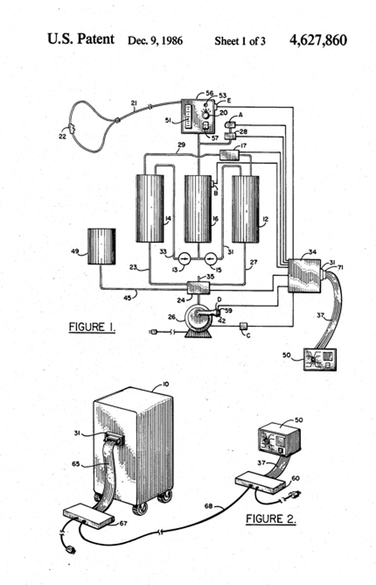 1986 Patent for Bendix Molecular Sieve Concentrator
