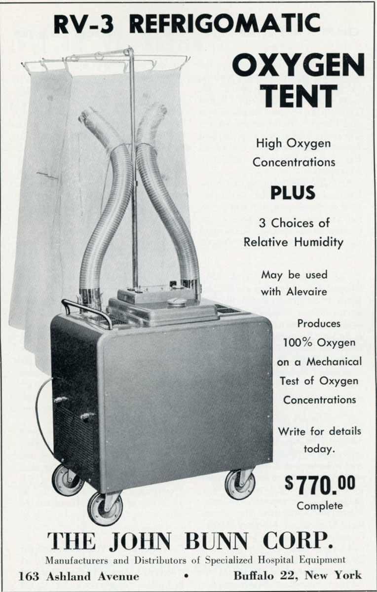 1956 Bunn Oxygen Tent  sc 1 th 281 & Oxygen Enclosures