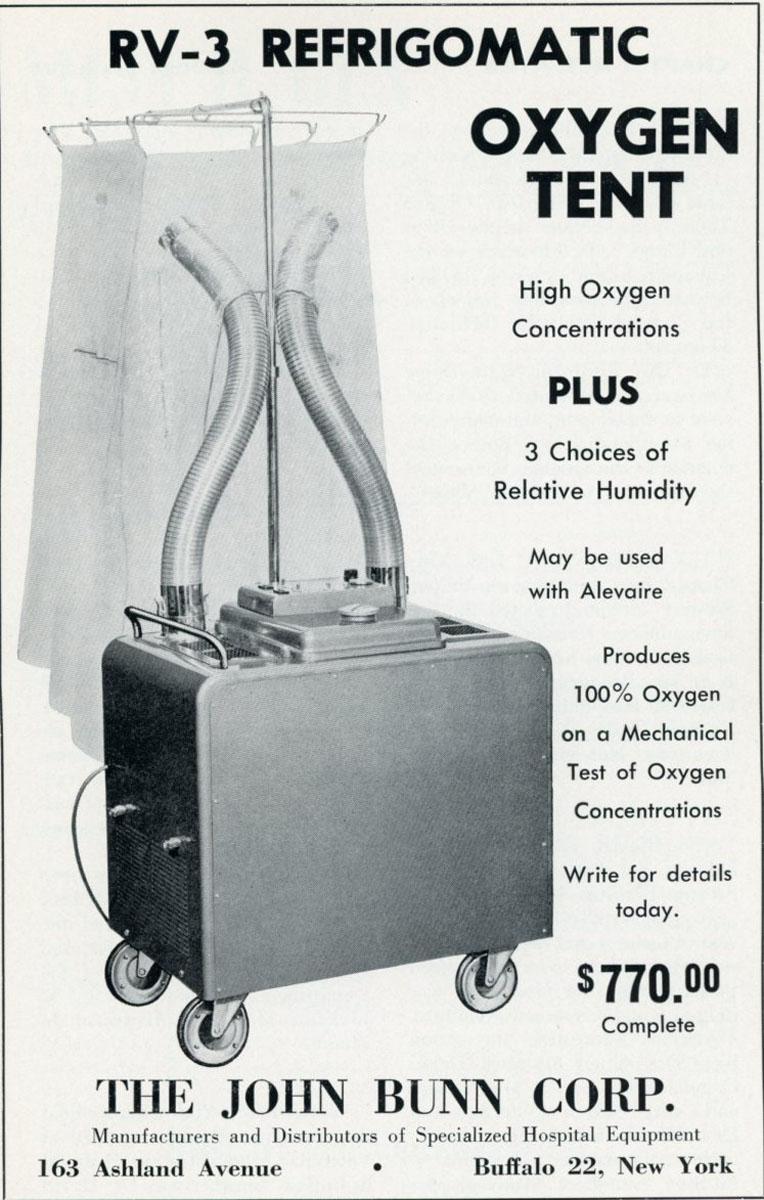 1956 Bunn Oxygen Tent