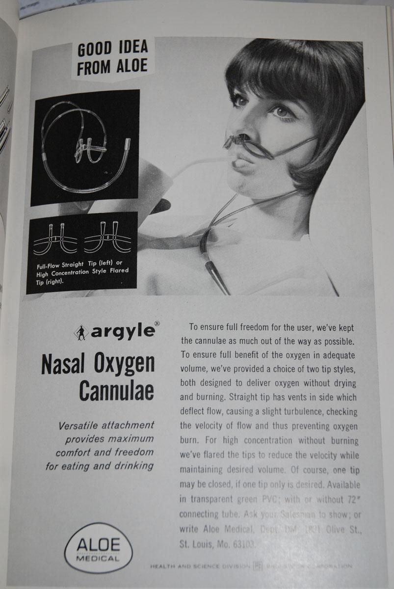 1960s Nasal Cannula Ad