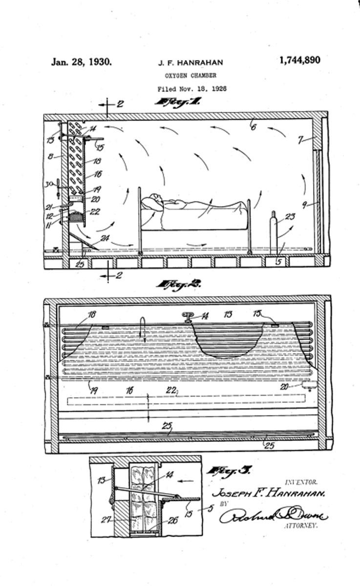1930 Oxygen Chamber Patent
