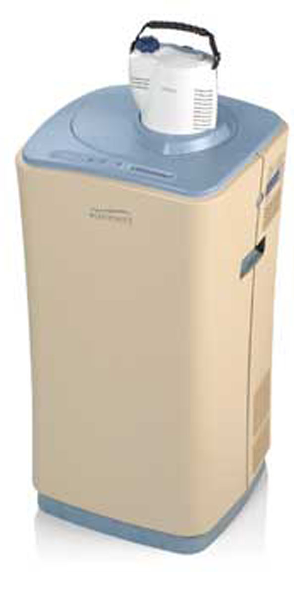 2011 HomeLOX combines a concentrator, liquid dewar, and refillable portable device in one unit