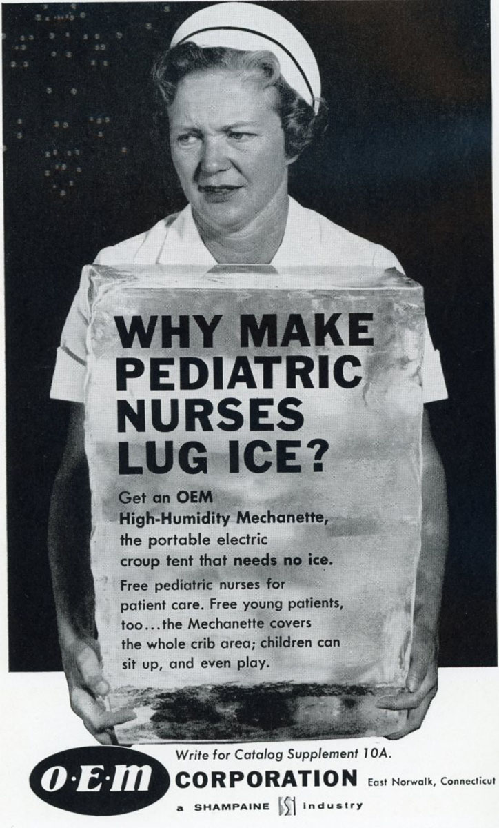 1960 Ad for Ice-free Pediatric Tents