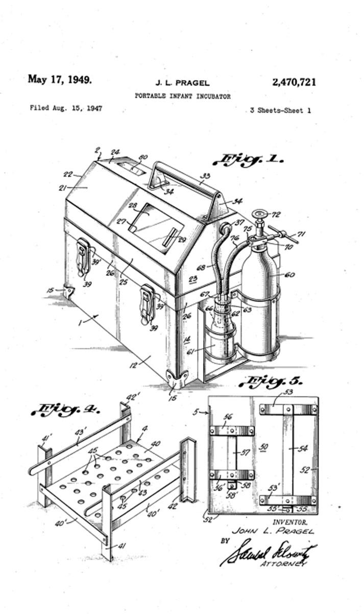 1949 Portable Incubator Patent