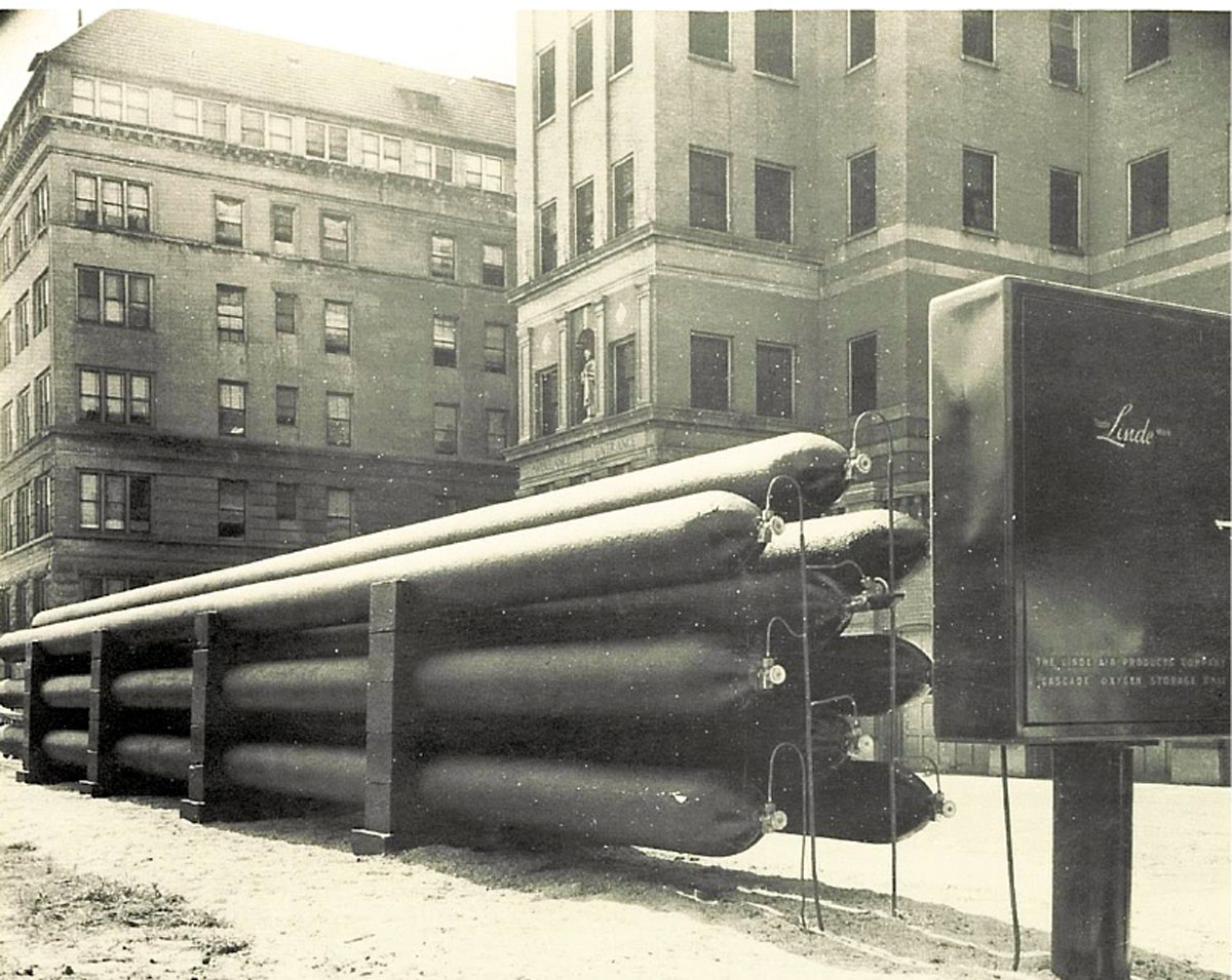 1951 Long Cylinders (41 Feet in Length) Supplied The Hospital Piping System