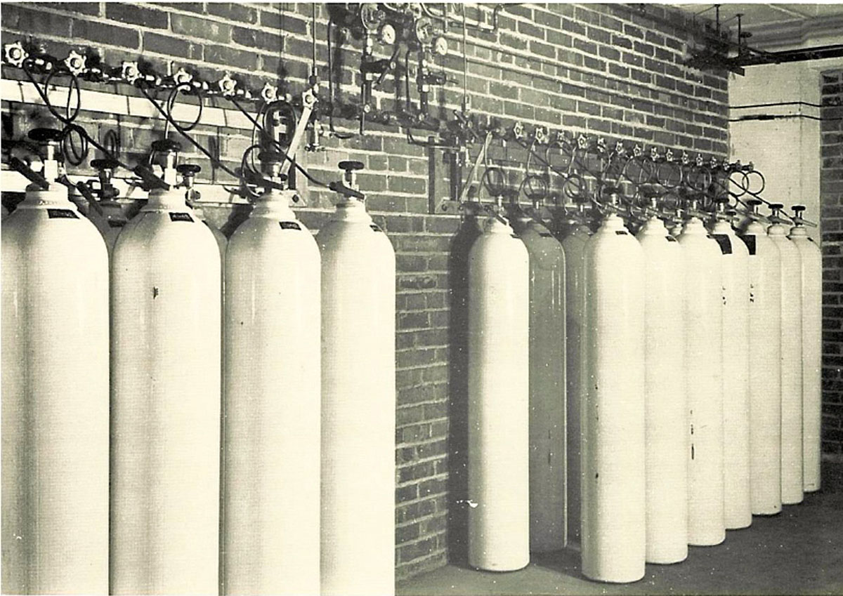 1951 Banks of Manifolded Cylinders