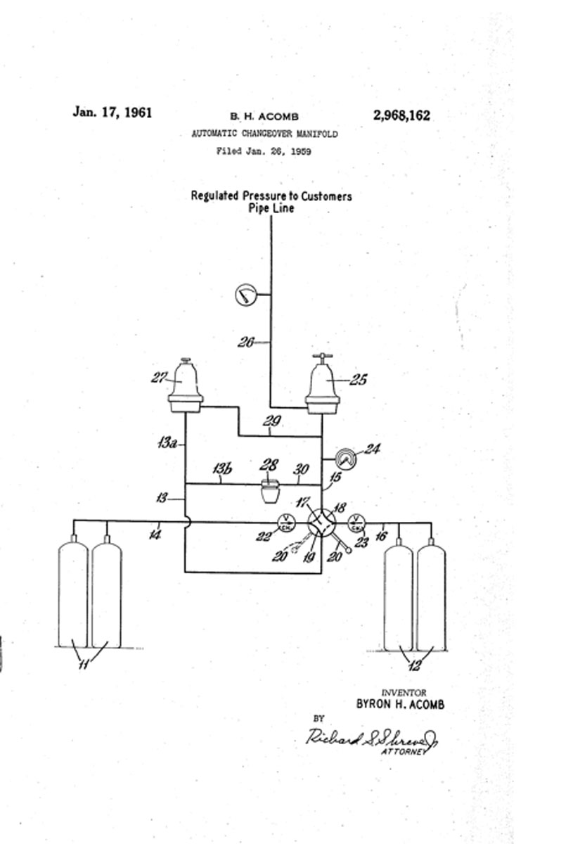 1961 Manifold System Patent