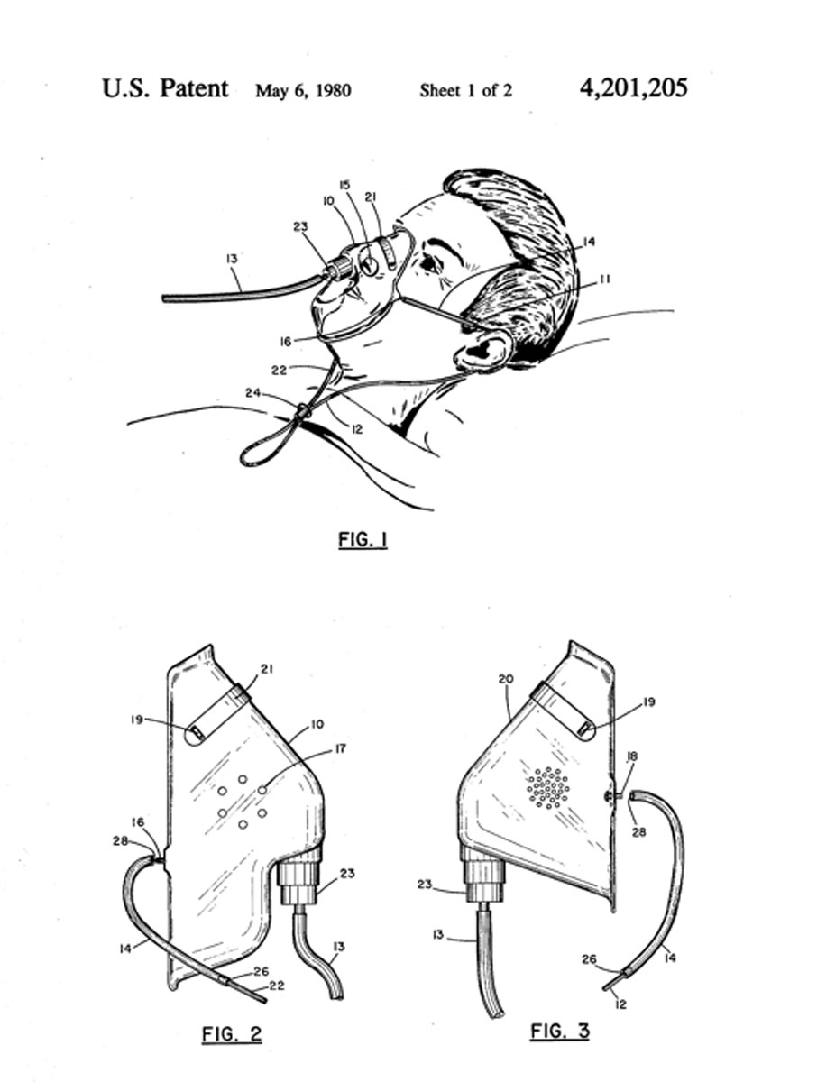 Mask with Chin Strap Patent
