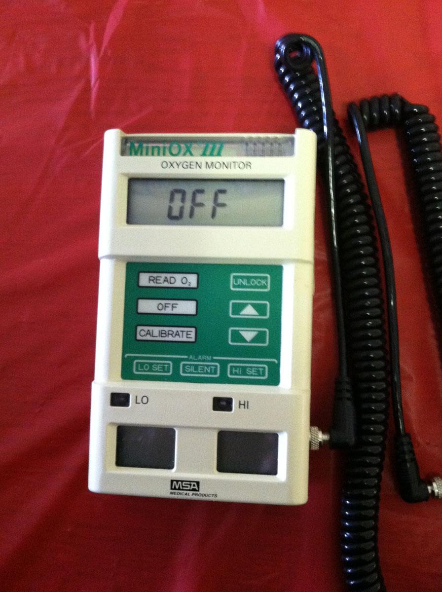 1992 MSA MiniOx III Oxygen Monitor