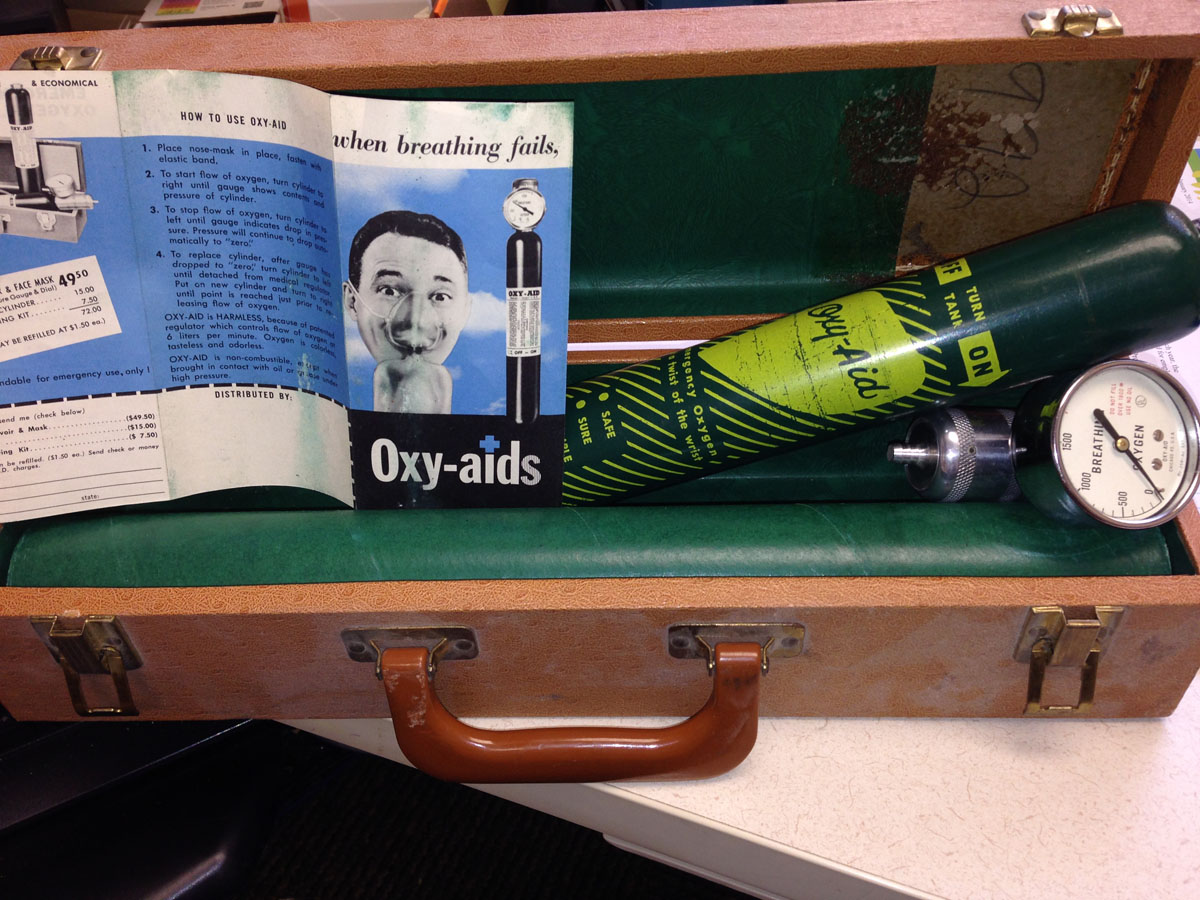 1960 Oxy-Aids Portable Oxygen