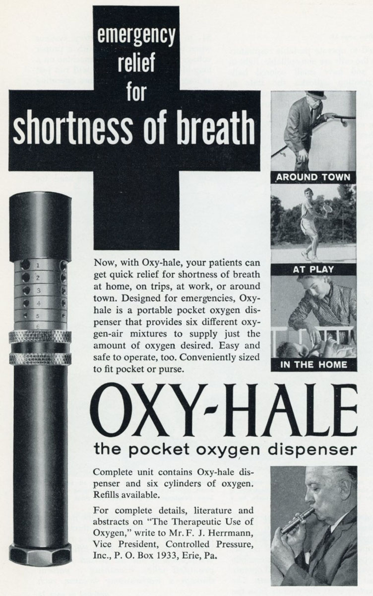 1950s Oxyhale Pocket Oxygen Dispenser