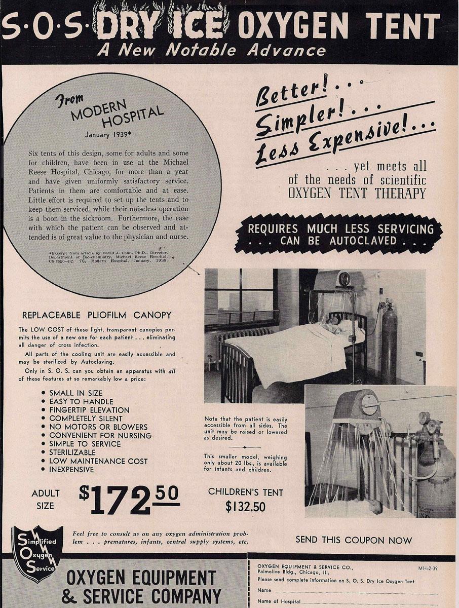 1930s Dry Ice Oxygen Tent