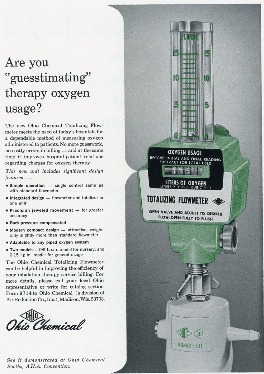 1960s Ohio Chemical's Totalizing Flowmeter