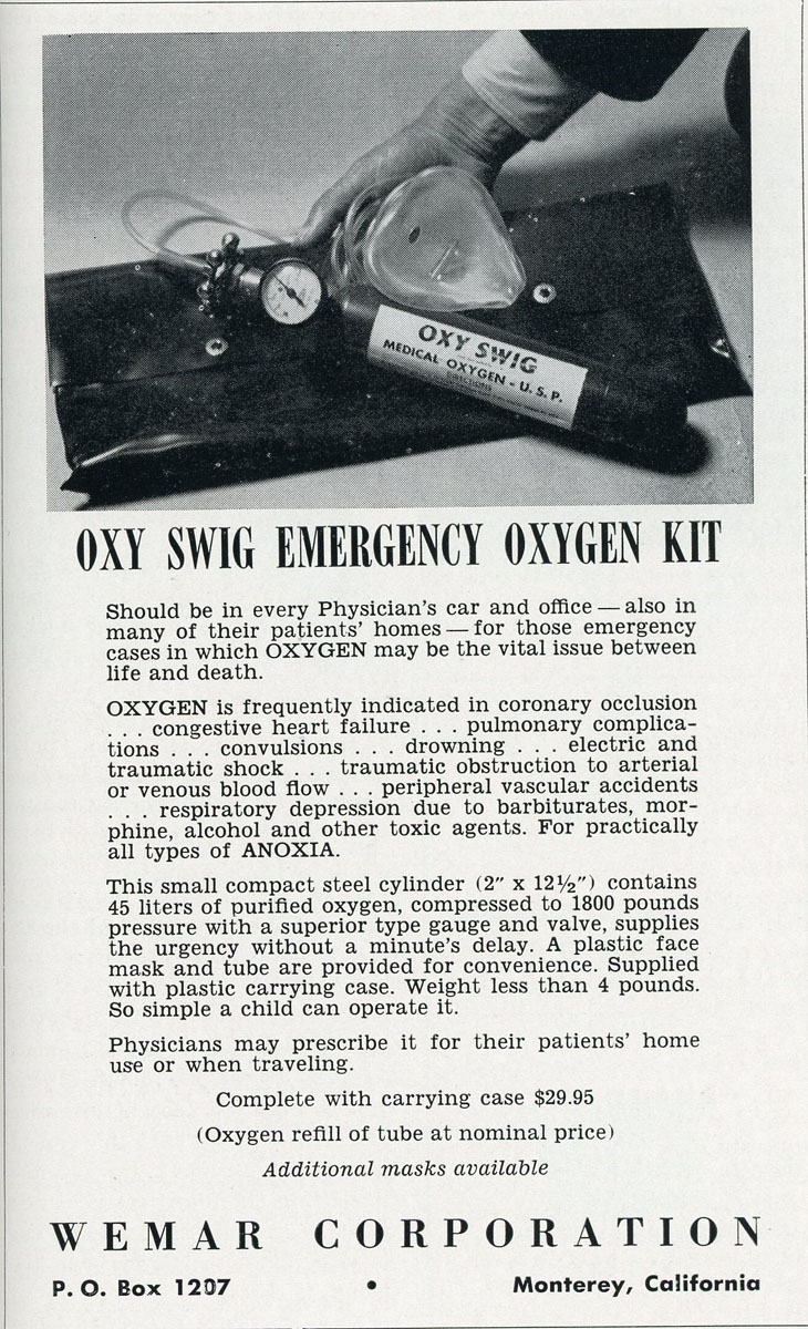 1960s OxySwig Emergency Oxygen Kit