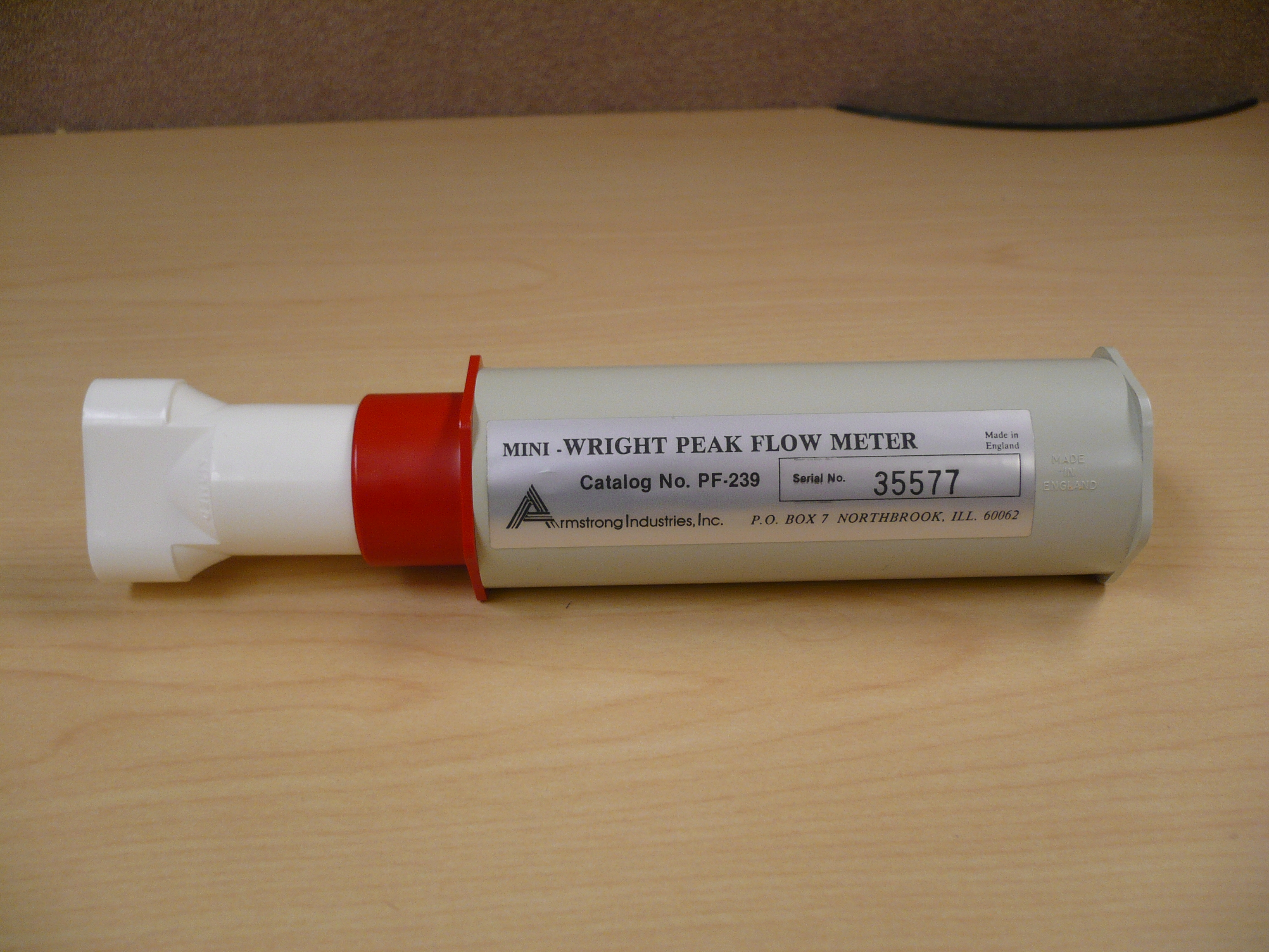 Mini-Wright Peak Flow Meter