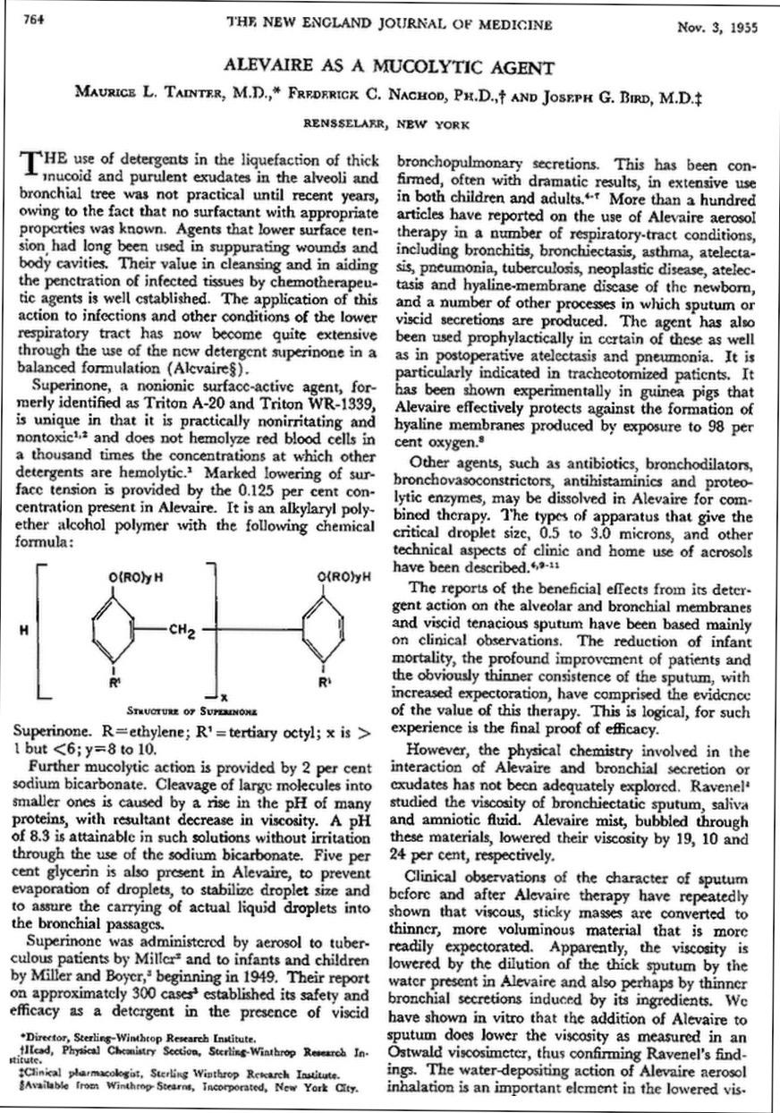 1955 Alevaire article