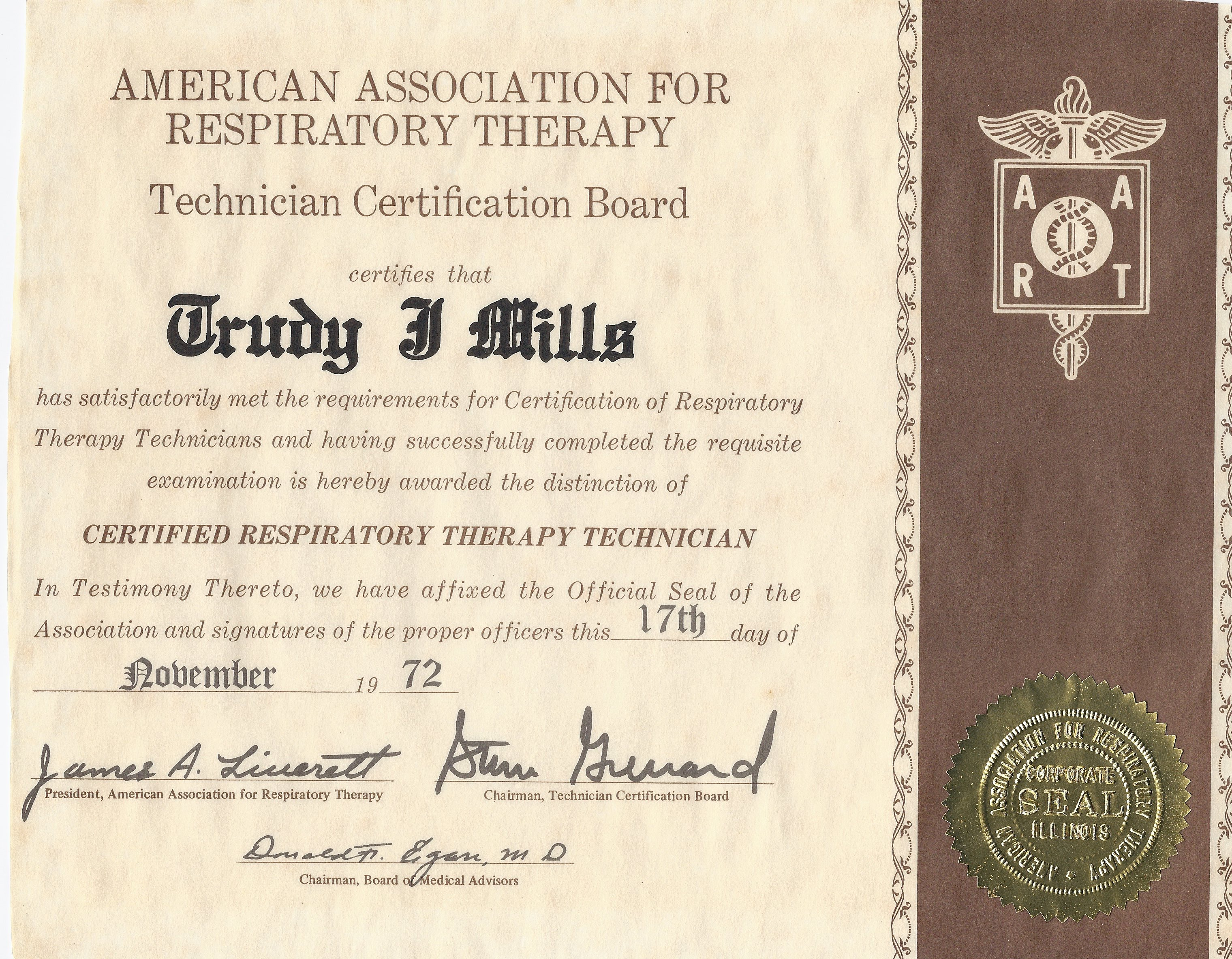 Milestones of the profession tcb crtt certificate 1betcityfo Image collections