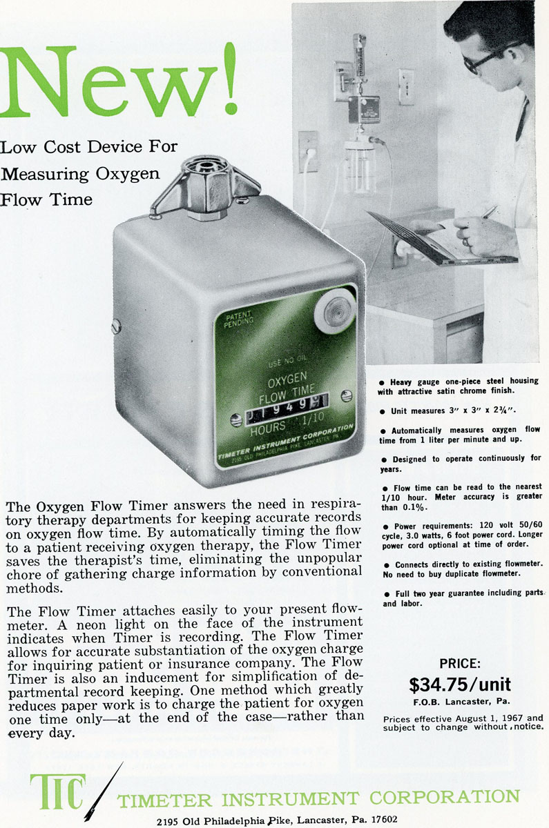 1970s Timeter Oxygen Flow Timer