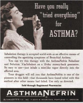 1940s Asthmanefrin ad