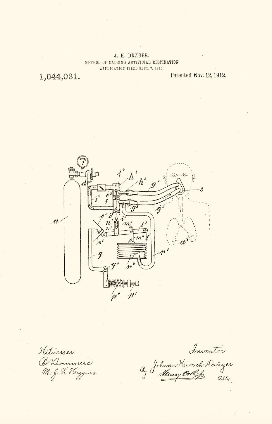 1912 Draeger Patent