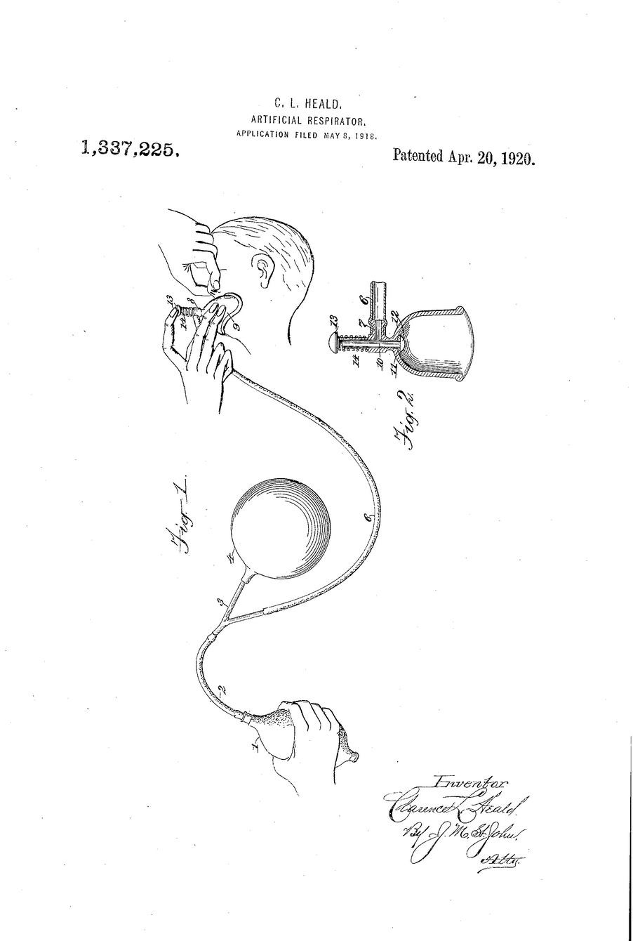 1920 Artificial Respirator