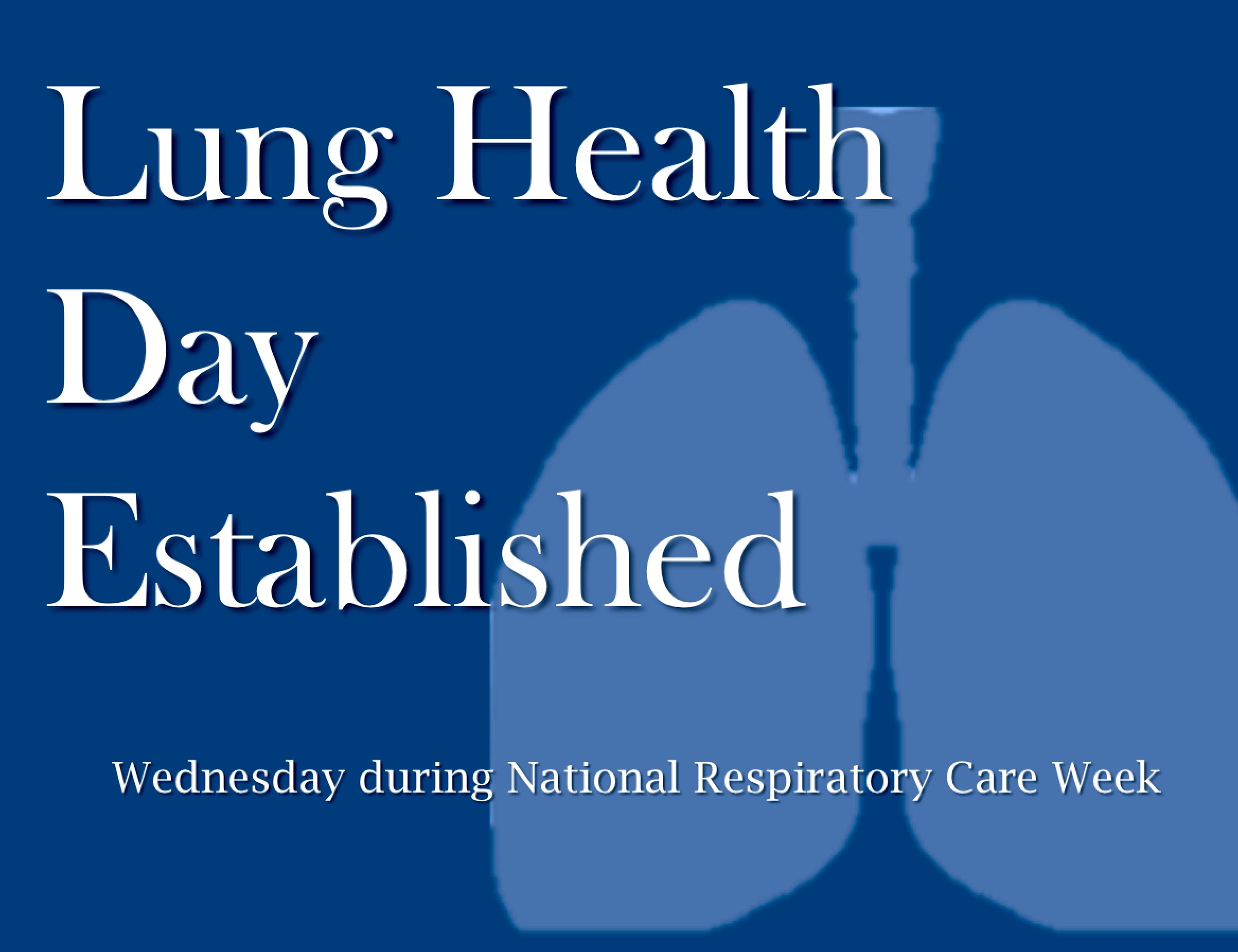 2003 Lung Health Day Launched