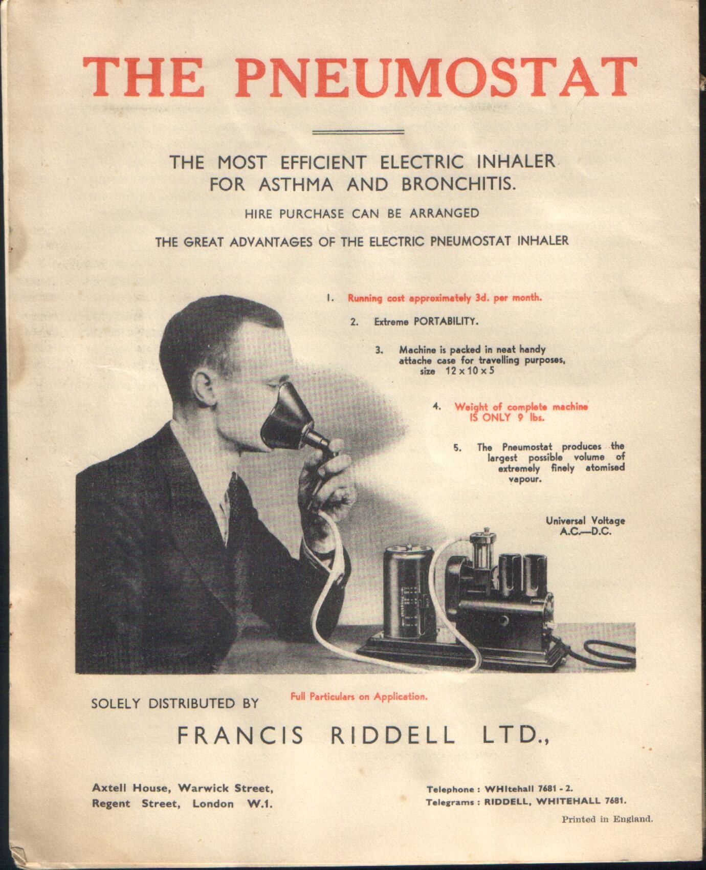 1935 Pneumostat Ad