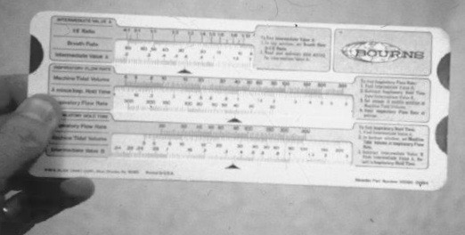 Bourns Slide Rule