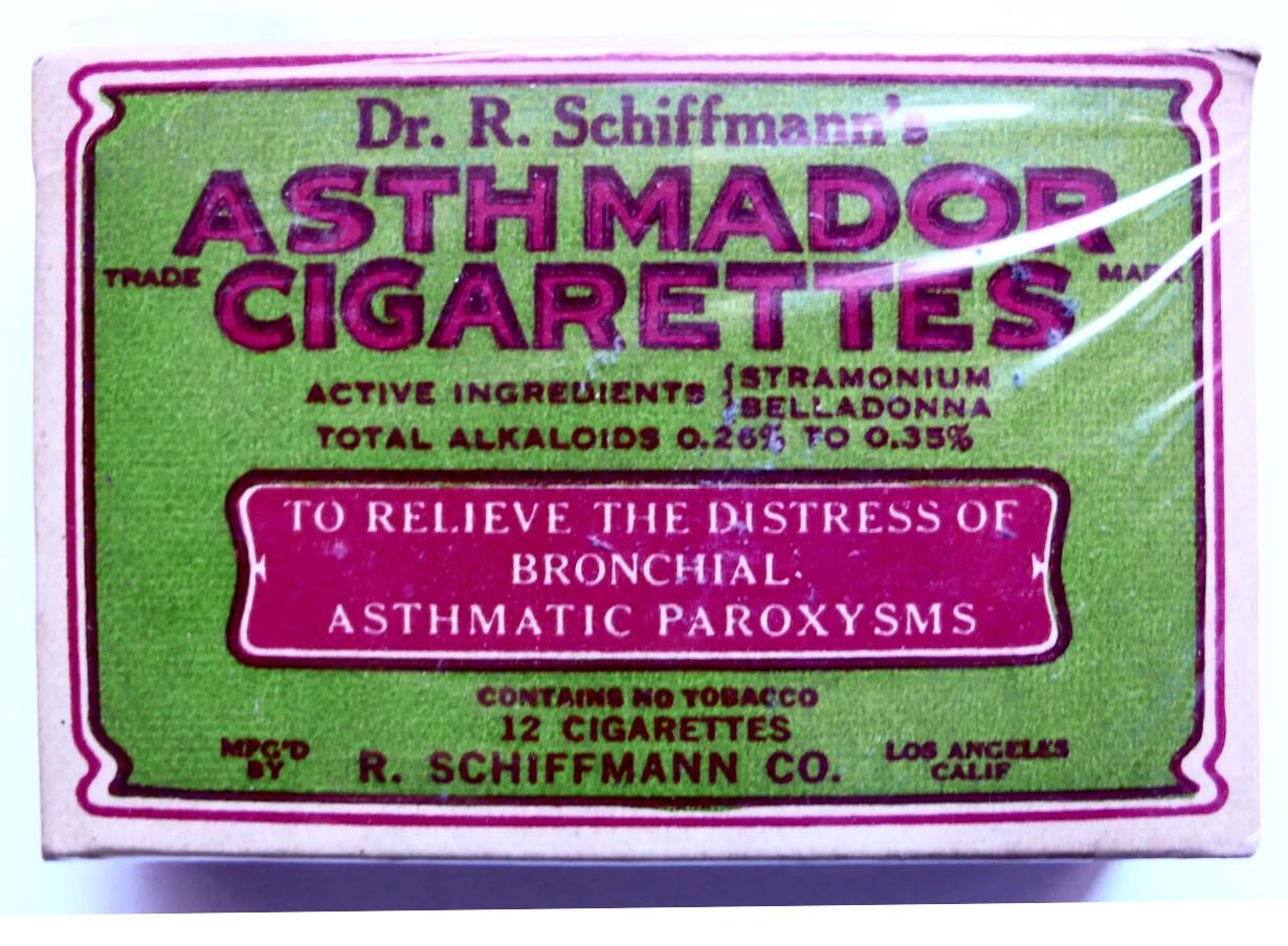 1930s Asthma Cigarettes