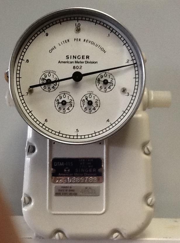 Singer Gas Meter