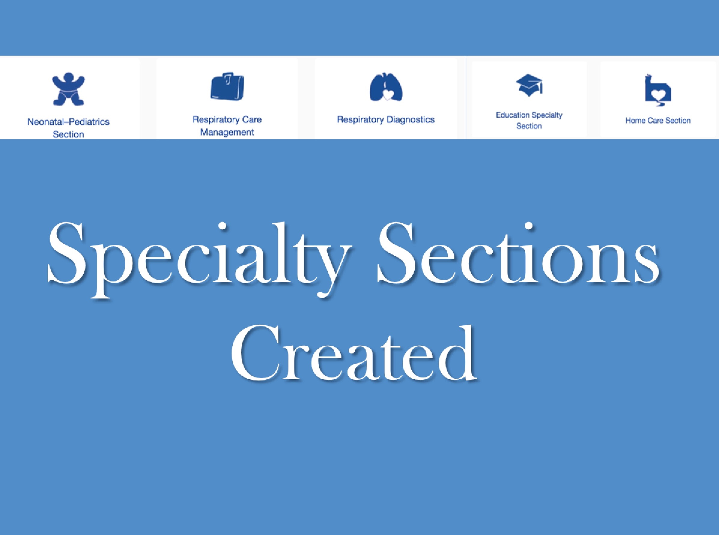 1978 Specialty Sections Created
