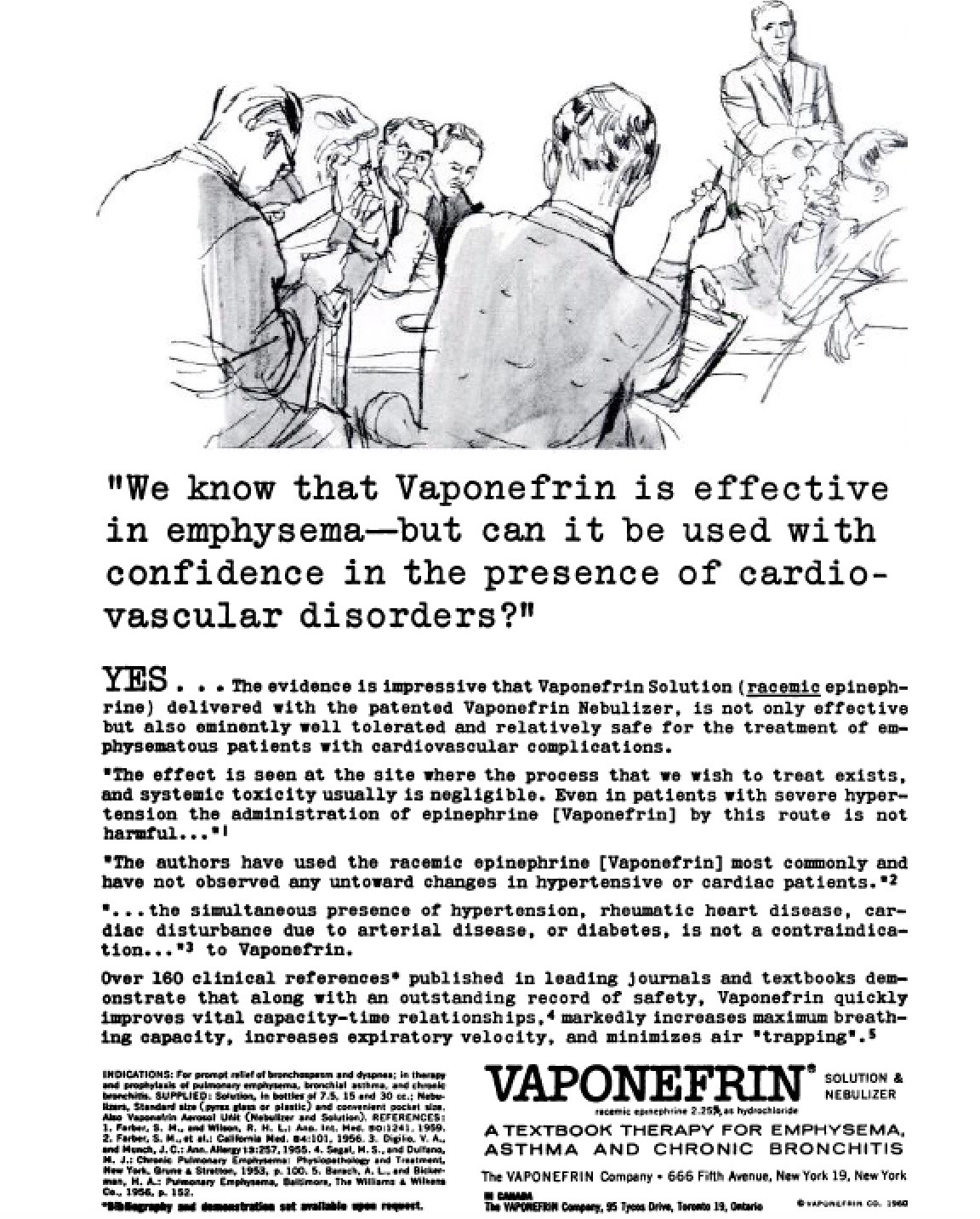 Vaponefrin ad from 1950s