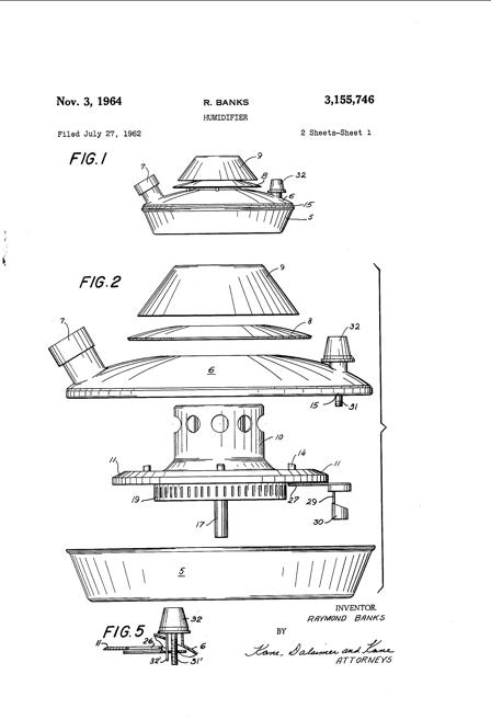 1962  Banks' Patent