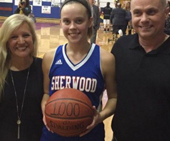 Sherwood's Allen scores 1,000th Career Point