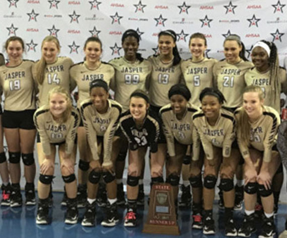 Jasper (AL) Volleyball plays one for the ages on the state's biggest stage