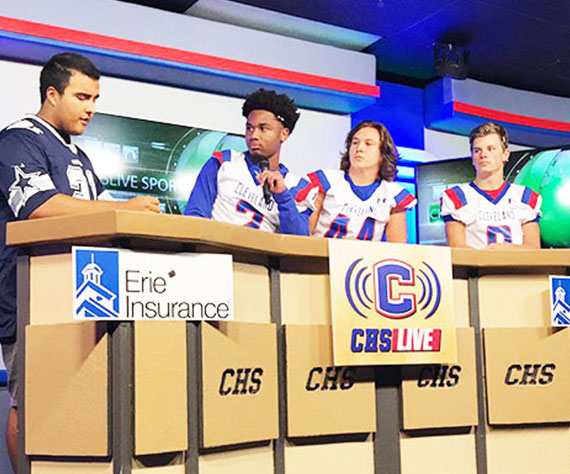 Cleveland (TN) broadcasts Gameday Kickoff on CHSLive Today