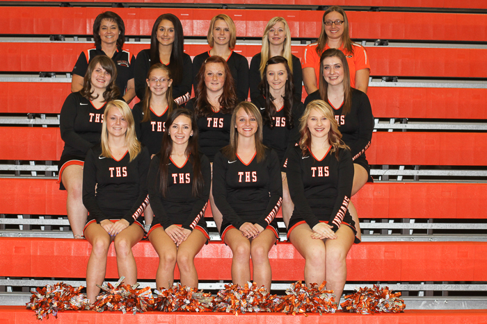 2012 Girls Varsity Competitive Cheer Team photo