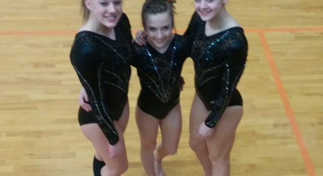 Gymnasts compete at MHSAA State Finals