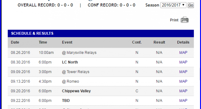 See All Fall Sports Schedules