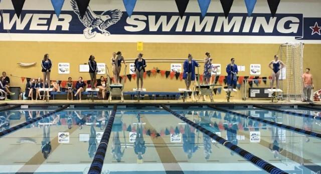 Eisenhower Girls Varsity Swimming beat Dakota High School 106-80