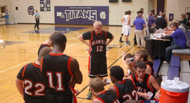 Huron Valley Lutheran High School Basketball Varsity Boys falls to Michigan Lutheran High School 27-58