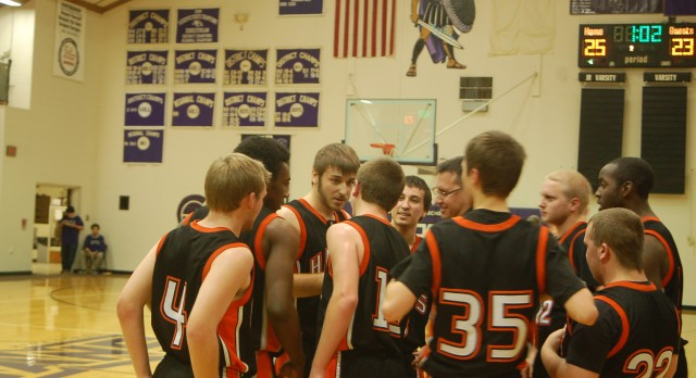 Huron Valley Lutheran High School Basketball Varsity Boys falls to Howardsville Christian High School 41-70 – Schaffer scores 1,000