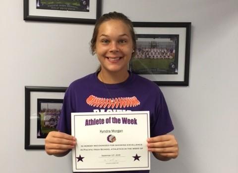 Athlete of the Week Kendra Morgan