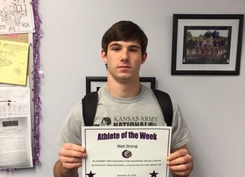 Matt Strong PHS Athlete of the Week